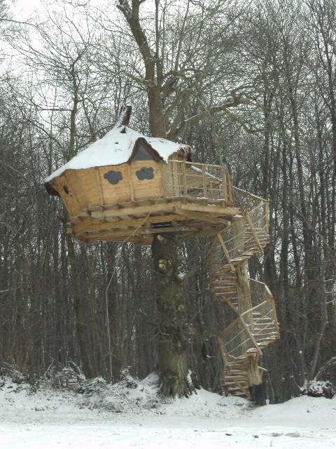 Cabane dans les arbres vue sur le mont st michel chambre d 39 h te montgothier manche 50 - Le mont saint michel chambre d hotes ...